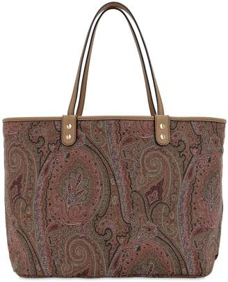 Etro Reversible Paisley Coated Cotton Tote