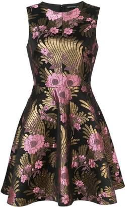 Josie Natori jacquard fit-and-flare dress