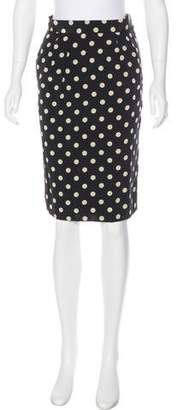 Bill Blass Vintage Polka-Dot Pencil Skirt