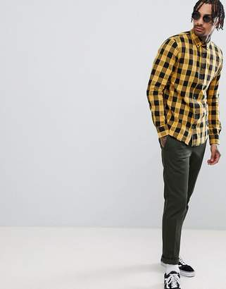 Pull&Bear Check Shirt In Yellow
