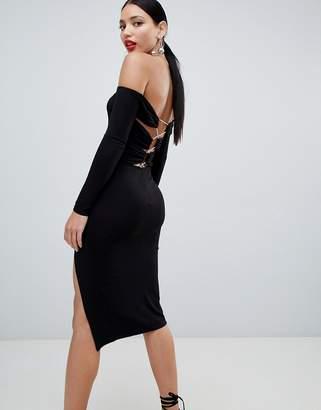 Bardot Asos Design ASOS DESIGN strappy back bodycon midi dress