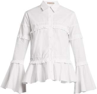 Preen Line Suki ruffle-trimmed cotton shirt