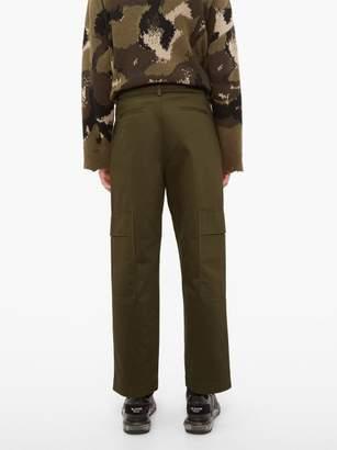 Valentino Cotton Cargo Trousers - Mens - Khaki