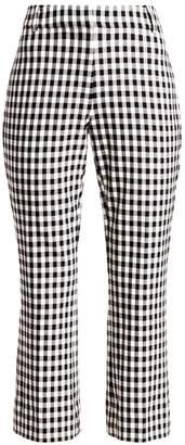 Derek Lam 10 Crosby Gingham Crop Flare Pants