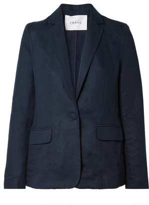 Frame Lyocell And Linen-blend Blazer