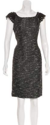 Alberta Ferretti Embellished Sheath Dress
