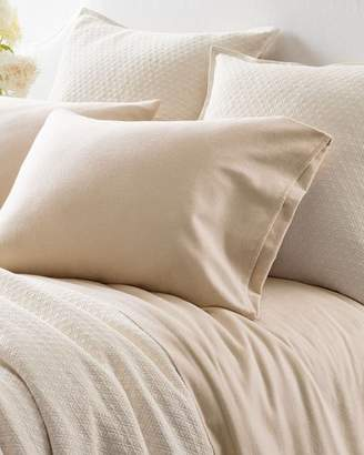 Pine Cone Hill Chambray Flannel Queen Sheet Set, Beige