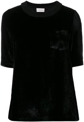 Moncler velvet flared T-shirt