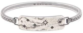 Bottega Veneta Intrecciato-engraved sterling-silver bracelet