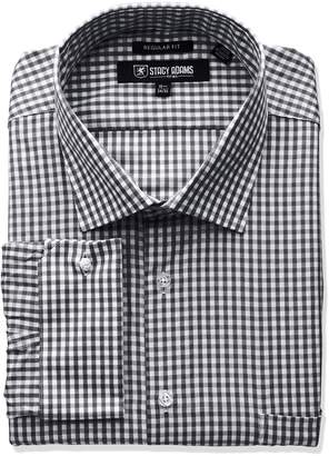 Stacy Adams Men's Big Tall Gingham Check Dress Shirt