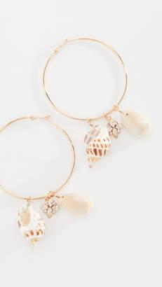 Anton Heunis Shell Hoop Earrings