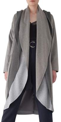 Sosken Brandy Stone Grey Duster Coat