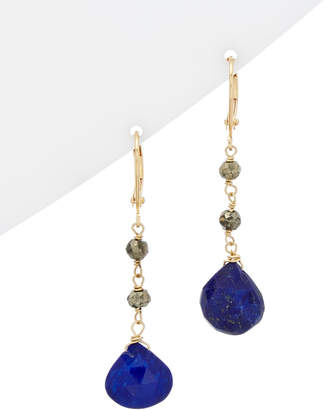 Rachel Reinhardt 14K Plated Blue Lapis & Pyrite Earrings