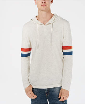 American Rag Men's Lightweight Varsity Henley Hooded Shirt