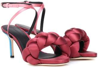 Marco De Vincenzo Braided satin sandals