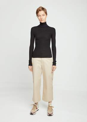 Acne Studios Fitted Turtleneck Trim Sweater