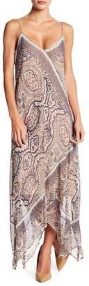 BCBGMAXAZRIA Chloey Handkerchief Slip Dress