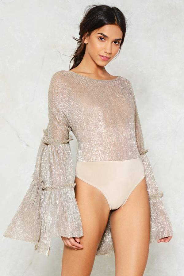 nastygal About that Drama Bodysuit