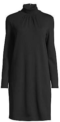 Max Mara Women's Lotus Wool Turtleneck Knit Dress