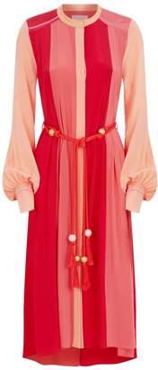 Peter Pilotto Colour Block Silk Shirt Dress