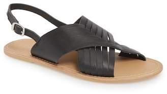 Topshop Hottie Cross Strap Flat Sandal (Women)