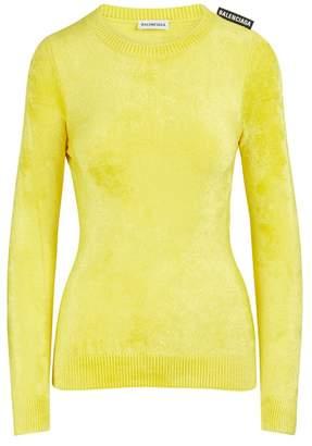 Balenciaga Velour round neck pullover