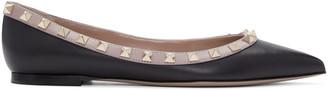 Valentino Black & Pink Rockstud Flats $745 thestylecure.com