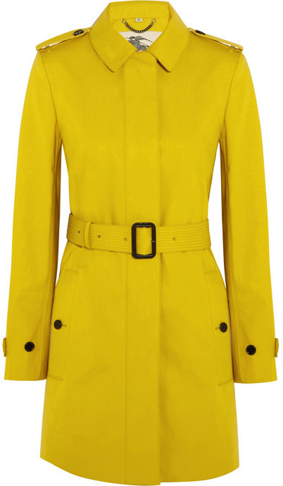 Burberry Single-breasted bonded-cotton trench coat