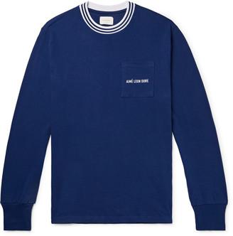 Leon Aimé Dore Logo-Embroidered Cotton-Jersey T-Shirt