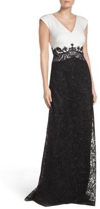 Women's Tadashi Shoji Two-Tone Gown $468 thestylecure.com