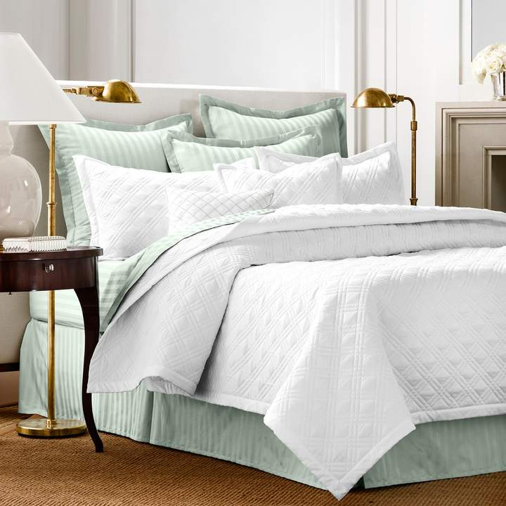 Damask Quilted Coverlet Set