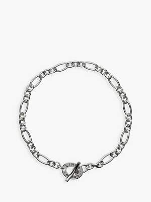 Links of London XS Sterling Silver Chain Charm Bracelet, Silver