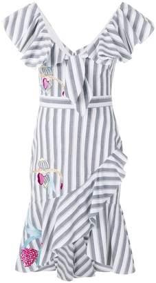 Temperley London Bella short ruffle dress
