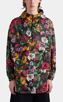 Valentino Men's Floral-Camouflage Tech-Satin Oversized Jacket - Lt. Green