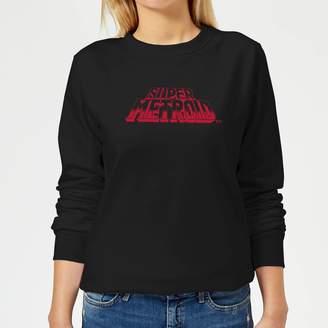 Nintendo Super Metroid Retro Logo Women's Sweatshirt