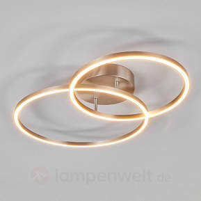 Zwei überlappende Ringe - die LED-Deckenlampe Elmo