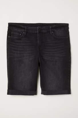H&M H&M+ Denim Shorts - Black