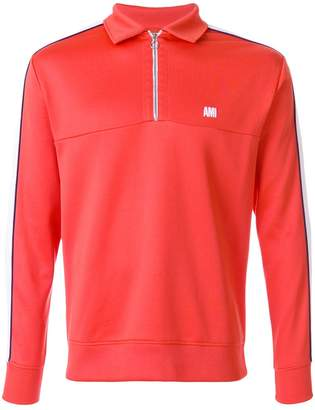 Ami Alexandre Mattiussi bicolor sweatshirt with polo collar
