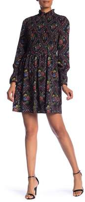 Laundry by Shelli Segal Printed Smocked Dress
