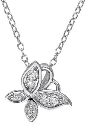 Laura Ashley Sterling Silver 1/8 Carat T.W. Diamond Butterfly Necklace $950 thestylecure.com