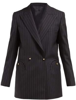 Blazé Milano Blaze Milano - J Class Double Breasted Pinstripe Wool Blazer - Womens - Navy Stripe