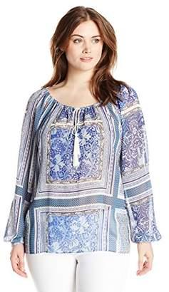 Single Dress Women's Plus-Size Long-Sleeve Peasant Blouse $29.96 thestylecure.com