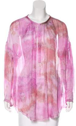 Raquel Allegra Silk Sheer Blouse