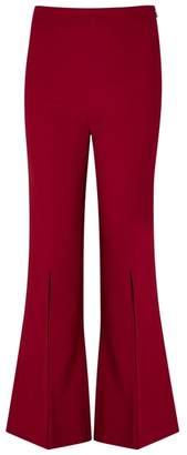 Roland Mouret Parkgate Red Flared Trousers
