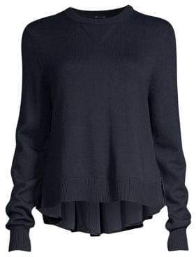 Elie Tahari Calla Merino Wool High-Low Sweater