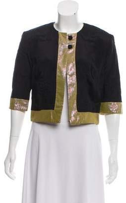 Matthew Williamson Short Sleeve Silk Jacket