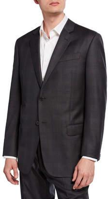 Emporio Armani Men's G-Line Tonal Plaid Wool Two-Piece Suit