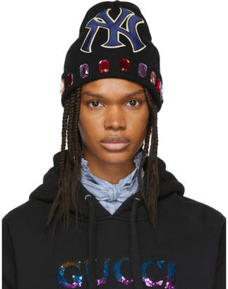 Gucci Black NY Yankees Edition Wool Beanie