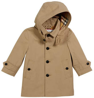 Burberry Bradley Hooded Trench Coat, Size 12M-2
