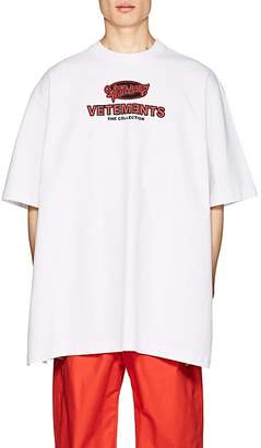 Vetements Men's Graffiti-Logo-Print Cotton Oversized T-Shirt